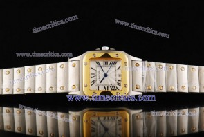 Cartier TriCAR426 Santos Galbee Steel Yellow Gold Watch