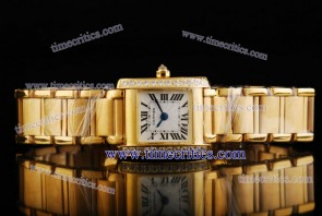 Cartier TriCAR440 Tank Francaise Yellow Gold Diamond Watch