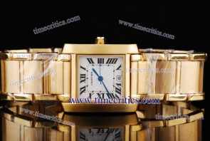 Cartier TriCAR441 Tank Francaise Yellow Gold Watch