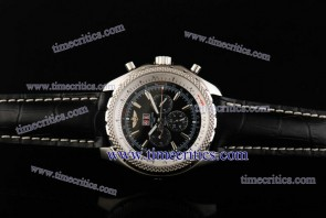 Breitling TriBrlb001 Bentley 6.75 Black Dial Steel Watch