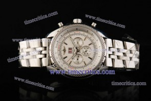 Breitling TriBrlb007 Bentley 6.75 White Dial Stick Markers Steel Watch