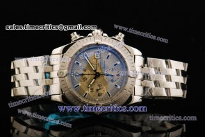 Breitling Chronomat Evolution TriBRL578 Gray Dial Steel Watch