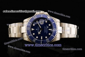 Rolex TriROL1142 Submariner Blue Dial Steel Watch