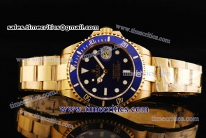 Rolex TriROL1143 Submariner Blue Dial Yellow Gold Watch