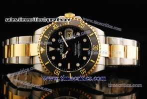 Rolex TriROL1144 Submariner Black Dial Two Tone Watch