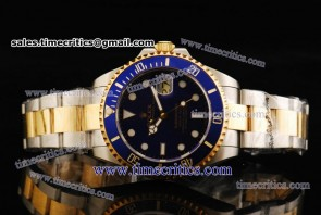 Rolex TriROL1145 Submariner Blue Dial Two Tone Watch