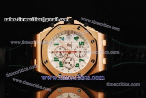 Audemars Piguet TriAP096 Royal Oak Offshore Limited Edition White Dial Rose Gold Watch