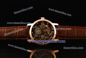 Vacheron Constantin TriVC101 Patrimony Complication Skeleton Dial Rose Gold Watch