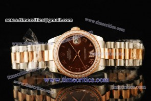 Rolex TriROL288 Datejust Brown Dial Two Tone Watch