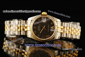 Rolex TriROL289 Datejust Grey Dial Two Tone Watch