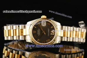 Rolex TriROL294 Datejust Grey Dial Two Tone Watch