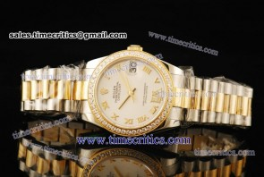 Rolex TriROL297 Datejust White Dial Two Tone Watch