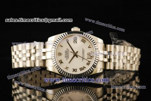 Rolex TriROL298 Datejust White Dial Steel Watch