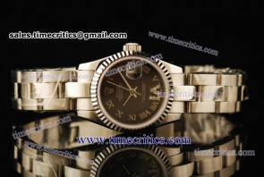 Rolex TriROL438 Datejust Grey Dial Steel Watch