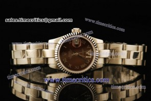 Rolex TriROL439 Datejust Brown Dial Steel Watch