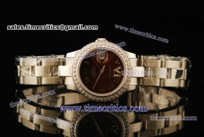 Rolex TriROL442 Datejust Brown Dial Steel Watch