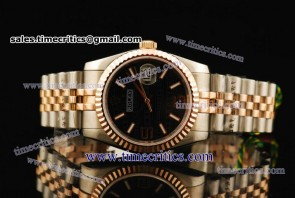 Rolex TriROL112 Datejust Black Dial Two Tone Watch