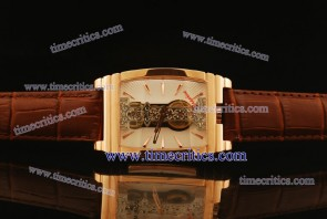 Corum TriCOR060 Golden Bridge White Dial Rose Gold Watch