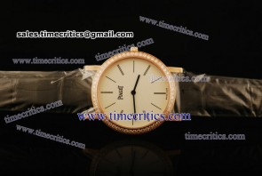Piaget TriPIA058 Altiplano White Dial Yellow Gold Watch
