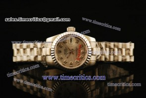 Rolex TriROL444 Datejust Sliver Dial Steel Watch