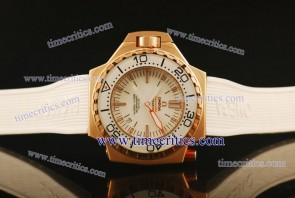 Omega TriOGA442 Seamaster Ploprof Rose Gold White Watch