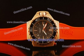 Omega TriOGA441 Seamaster Ploprof Rose Gold Brown Watch