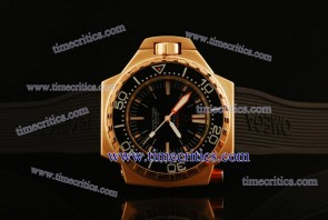 Omega TriOGA440 Seamaster Ploprof Rose Gold Black Watch