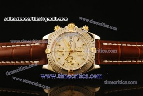 Breitling TriBRL534 Chronomat Evolution White Dial Steel Watch