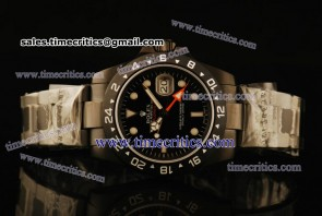 Rolex TriROL1340 Explorer II Black Dial PVD Watch
