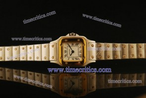 Cartier TriCAR427 Santos Galbee Steel Yellow Gold Watch