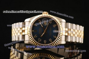 Rolex TriROL129 Datejust Blue Dial Two Tone Watch