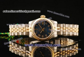 Rolex TriROL445 Datejust Blue Dial Two Tone Watch