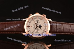 Vacheron Constantin TriVC054 Patrimony Complication White Dial Rose Gold Watch