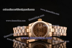 Rolex TriROL446 Datejust Beige Dial Steel Watch