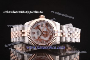 Rolex TriROL447 Datejust White Dial Two Tone Watch