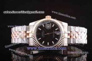 Rolex TriROL133 Datejust Black Dial Two Tone Watch