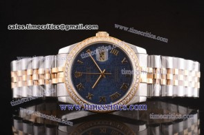 Rolex TriROL134 Datejust Blue Dial Two Tone Watch