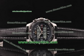 Breitling TriBrls077 Skyracer Leather Steel Watch