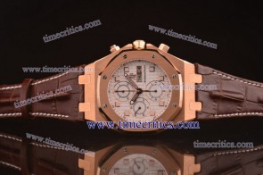 Audemars Piguet TriAP176 City of Sails White Dial Rose Gold Watch