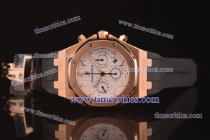 Audemars Piguet TriAP175 City of Sails White Dial Rose Gold Watch