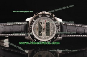 Breitling TriBrls078 Skyracer Leather Steel Watch