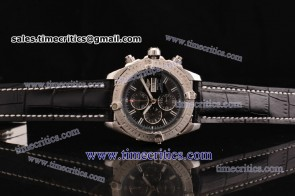 Breitling TriBRL524 Chronomat Evolution Black Dial Steel Watch