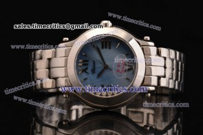 Chopard Trichp250 Happy Sport II Round 7 Floating Diamonds Steel Watch