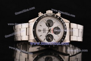 Rolex TriROL910 Daytona White Dial Steel Watch