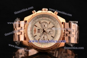 Breitling TriBrlb018 Bentley 6.75 White Dial Rose Gold Watch