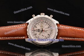Breitling TriBrlb004 Bentley 6.75 White Dial Stick Markers Steel Watch