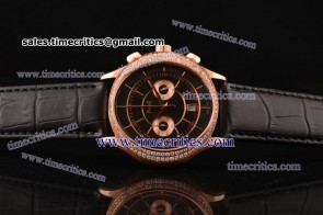Piaget TriPIA064 Black Tie Black Dial Rose Gold Watch