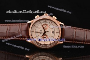 Piaget TriPIA066 Black Tie White Dial Rose Gold Watch