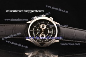 Piaget TriPIA073 Black Tie Black Dial Steel Watch