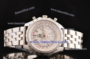 Breitling TriBrlb015 Bentley 6.75 White Dial Steel Watch